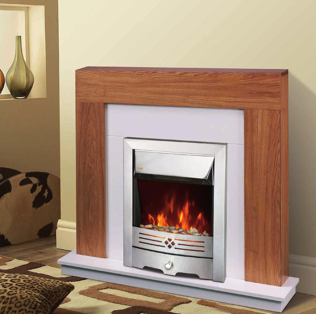 NDY-19EL-E Freestanding or inset style Real pebbles flame