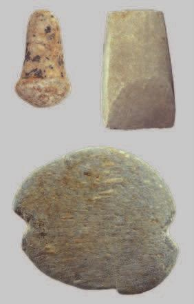 Flint artifacts in prehistoric assemblages from Phases I, II and III Promachon-Topolnica.