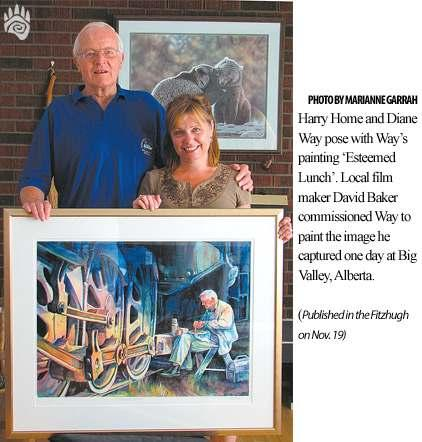 Page 4 Portrait Captures Home s Love of Trains Reprinted from Jasper, AB s, The Fitzhugh newspaper.