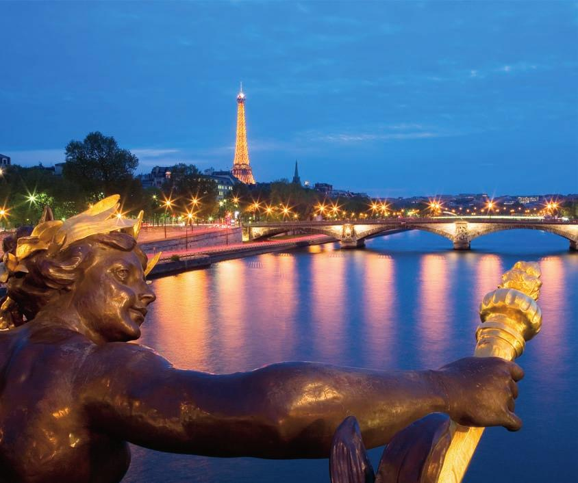 Travel Enjoy the sights in the City of Light Stroll the Champs-Elysées, visit the top of the Eiffel Tower, or