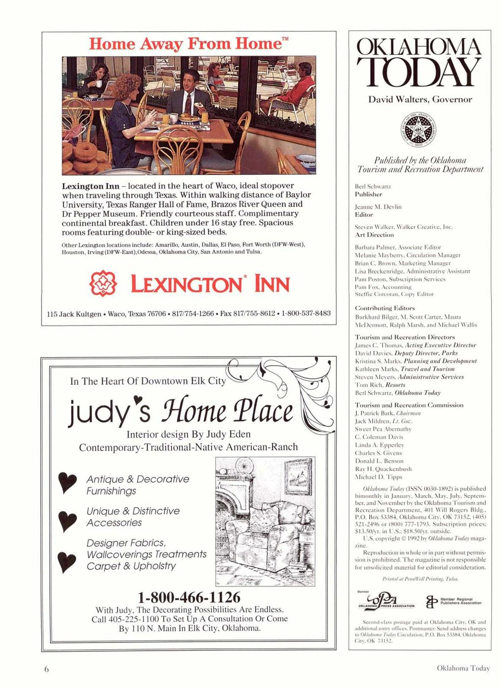 "Home Away From Home"" I. LexingtonInn- locatedin the heart of Waco, ideal stopover when travelingthroughtexas."