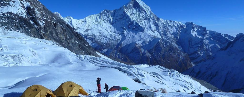 Tharpu Chuli (5663M) known as Tent peak is one of the most climbed trekking peak situated at above the Annpurna base camp of Nepal.
