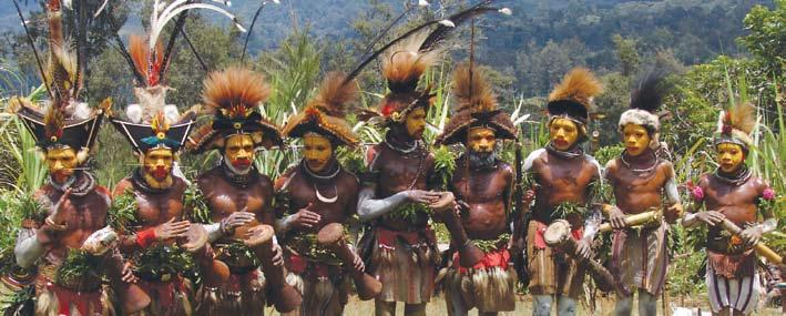 Papua New Guinea Detailed Itinerary A Tribal Odyssey Sep 10/15 Singsing Festival is an exhibition of diverse tribal cultures.