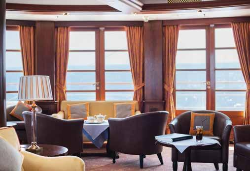 Premium Balcony Suite Sun deck Panorama lounge Your Day to Day Life Onboard Onboard the MS Caledonian Sky, you will not find endless entertainment, round the clock buffets and the people management