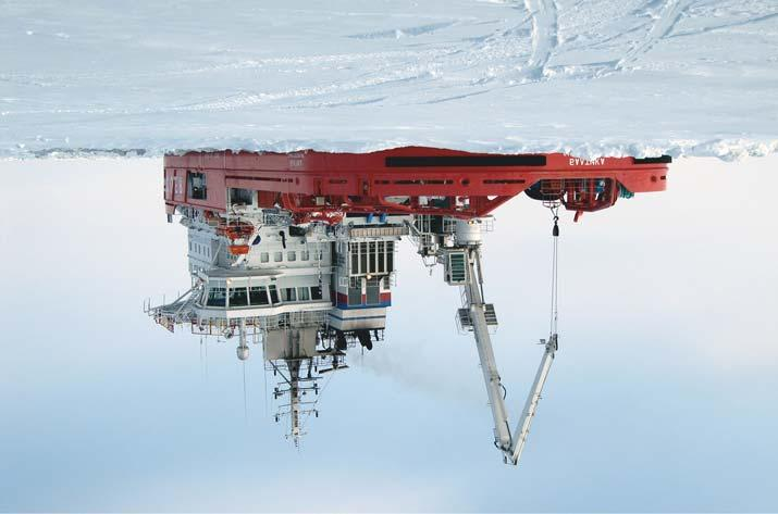 The hull form was developed in cooperation with Samsung Heavy Industries and the development work also consisted of ice model testing at Aker Arctic's ice laboratory.