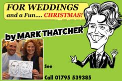 156 Maidstone CARICATURES Live caricatures at your party or event! www.markthatcher-design.