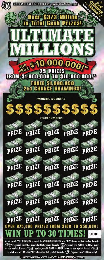 million scratch-off prize. What games produced those wins?