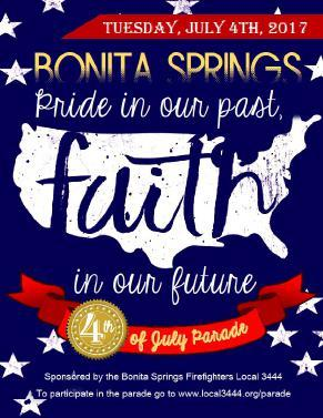 The City of Bonita Springs will celebrate Independence Day with the annual Star Spangled Bonita event on Tuesday, July 4th at Riverside Park in Bonita Springs.