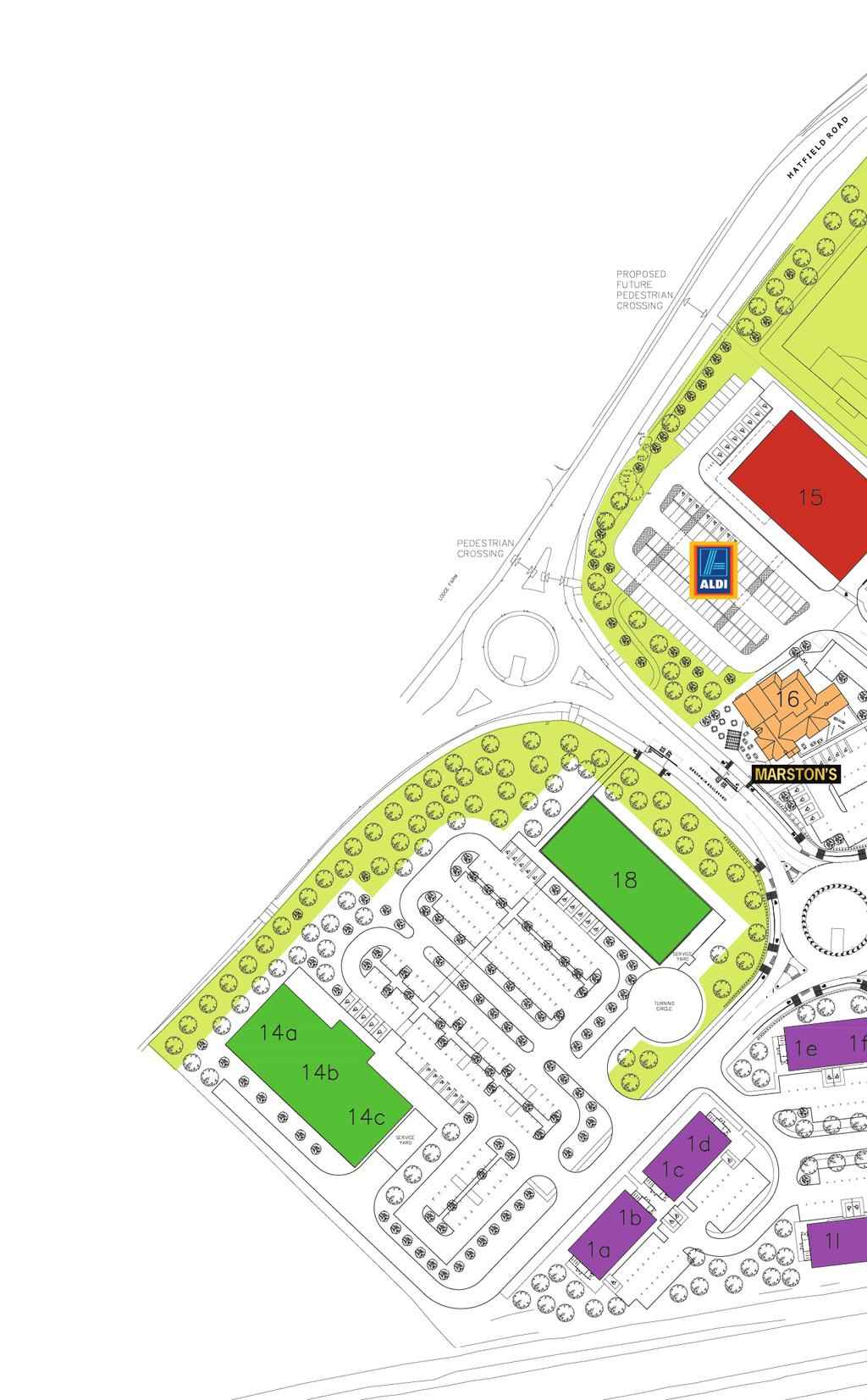 Master Plan Gershwin Park, Witham, is a multi-use development combining a new residential neighbourhood with a range of retail, office and commercial properties, together with leisure and community