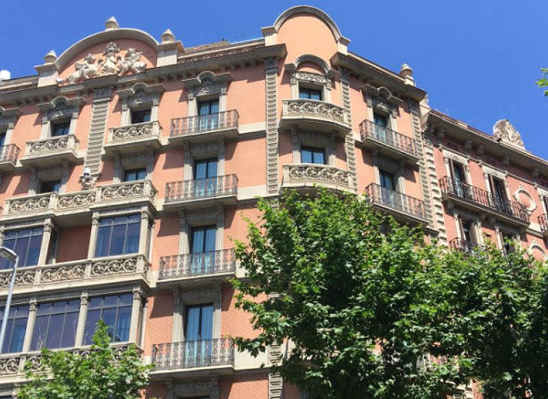 The 67-room luxury boutique hotel is located in the middle of the Eixample district of Barcelona.