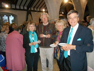 Nigel and Annette Freathy with Anna and Robert Crabbe ST GILES CHURCH AGM LAY LED SERVICES 7 Celebrating after the AGM At the Vestry Meeting held on 20 th April in the Village Hall, chaired by the