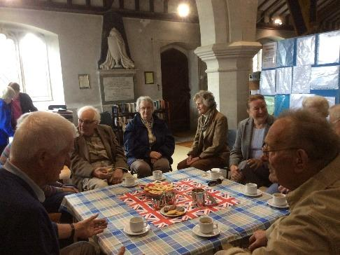 Margaret Astbury kindly baked special commemorative VE Day biscuits for the celebrations on Friday, 8 th May and those who attended the usual Friday morning Coffee Shop at the back of the Church