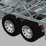 RR10S SERIES TAG AXLE (found on 42 floorplans) The tag axle lifts for added maneuverability in tight spots.