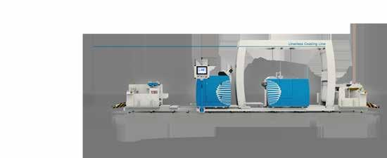 HYBRID technology Rotating Hotmelt Coating Station for quick change of the web passage for the production of  CONTROL AND