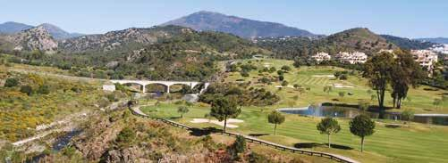 large footprint which is particularly popular with golfers; Los Arqueros,
