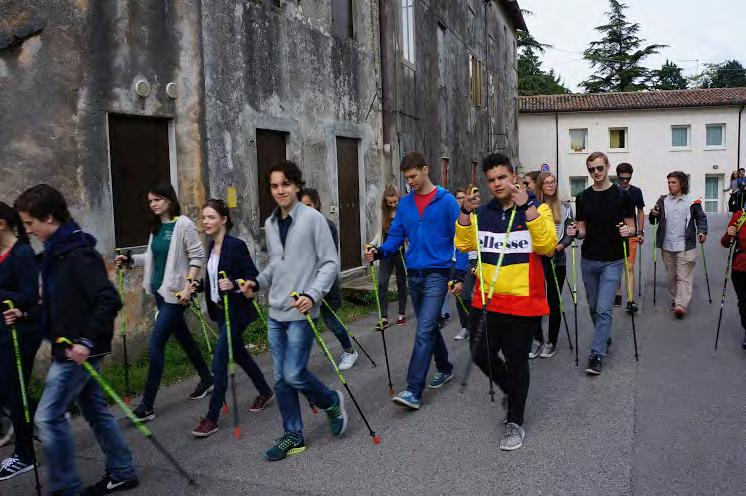 Picture: Nordic walking experience Picture: Rest in front of Villa Angarano- Michiel with walking poles offered by Gabel Italia