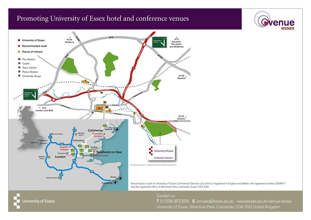 Mathematical and Theoretical Ecology 2011 19th 21st September 2011 HOW TO FIND US CAR: If approaching the University from London and the South via the A12, take the exit marked Colchester A133.