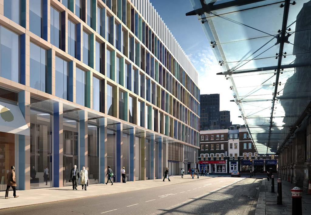 FARRINGDON EAST, EC1 89,000 sq ft consented office scheme over Farringdon East Crossrail Station Exclusivity agreement in place to take over former