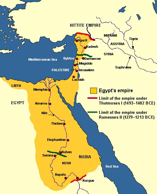 New Kingdom (1550 BC-1100 BC) Soon the Egyptians mastered the Horse chariot military technology and drove the Hyksos out, establishing