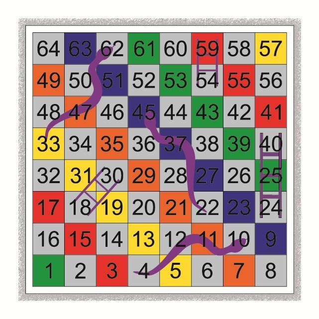 1-100 Outline Snakes & Ladders 1-100 Solid Panels Snakes