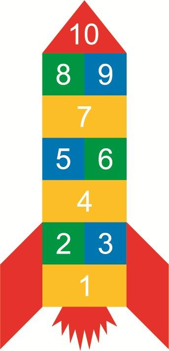 Times Table Hopscotch Size: 3940mm x 3410mm