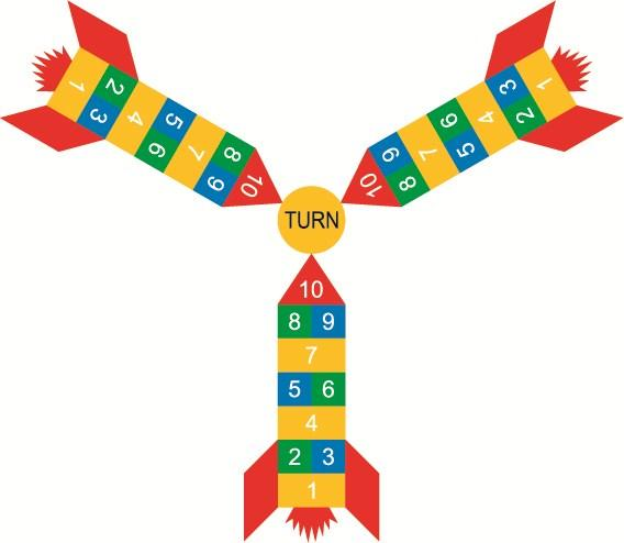 Hopscotch Rocket Hopscotch Size: 3315mm x 1600mm 3
