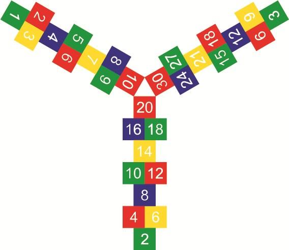 Times Table Rocket Hopscotch Size: 5550mm x 4800mm