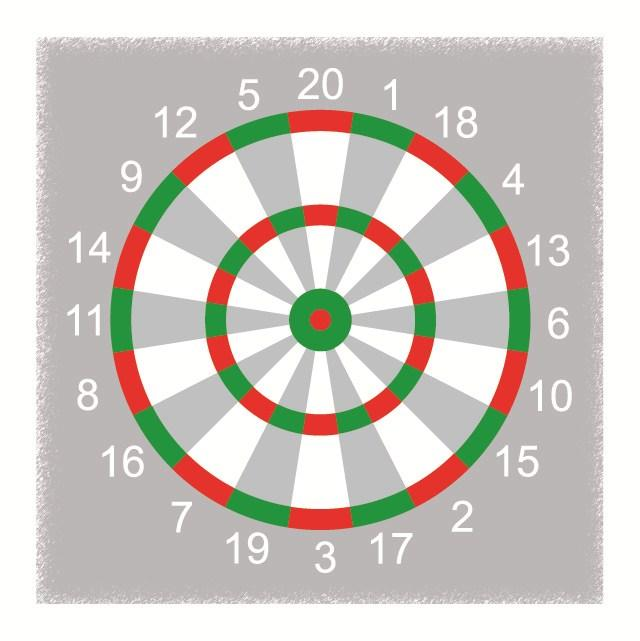 2300mm Dartboard Size: 3500mm