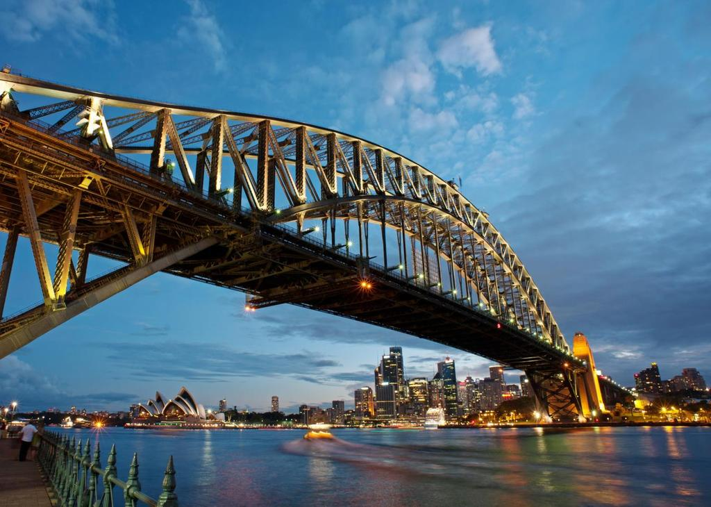 SYDNEY SYDNEY/HUNTER VALLEY 4 NIGHTS SYDNEY/ 1 NIGHT HUNTER VALLEY Australia s largest and most famous city, Sydney is home to beautiful beaches, iconic buildings, historic landmarks, award-winning