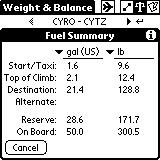 Tapping on a segment bar opens a window that displays a summary of the data for that segment.