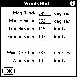 rate is assumed). Enter the true temperature and the airspeed is corrected for temperature effects.