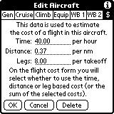 Cost Estimates CoPilot has a facility for estimating the cost of a flight.