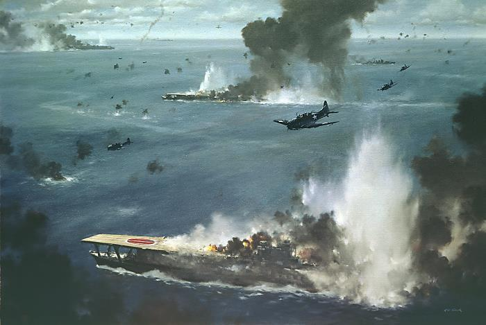 Battle of Midway, June 1942 This battle was the turning point in the Pacific War as the Americans sank four Japanese aircraft with over 300