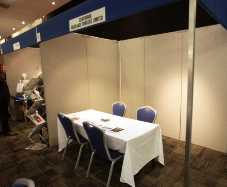 Exhibition stands Our exhibition spaces are set up as a shell scheme which consists of: - 2.
