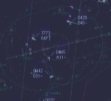 Figure 3 shows a further magnified image taken from the recorded surveillance data showing the traffic situation at 1135:28 with the C17 still tracking north-east and the primary radar return in its