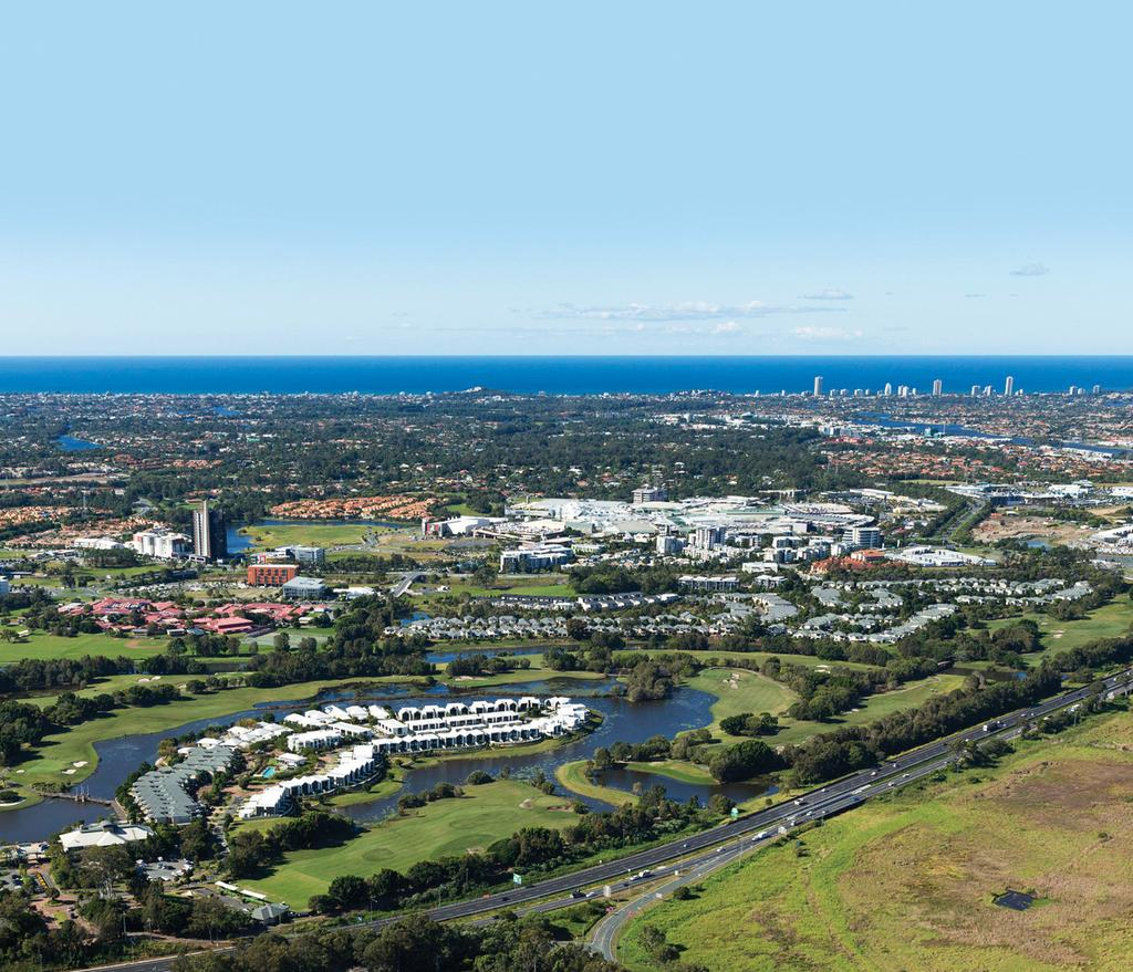 PERFECTLY POSITIONED Robina is the geographic and demographic hub of the Gold Coast, a dynamic community of liveliness and CBUS SUPER STADIUM BROADBEACH THE GLADES GOLF