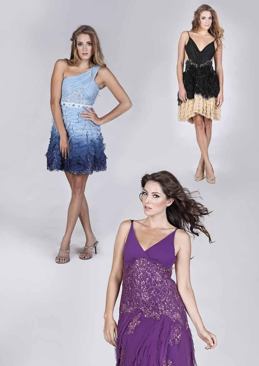 SHOPPING BALI S MOST DESIRABLE PHOTOS COURTESY OF DINDA RELLA Angelina Dress (black sand) Chiffon silk degrade, sateen silk stretch, lace, viscose lining, diamonds, Swarovski, sequin, chiffon silk