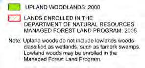 As such, the remaining woodlands of the Town are valuable contributors to the area's character and beauty because they represent corridors for wildlife and restricted habitat for certain plant