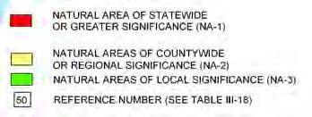 educational value (Ozaukee County Multi-jurisdictional Comprehensive Plan, 2008). Figure 9 identifies natural areas of local significance (NA-3) in the. The box below Figure 9 provides further detail.