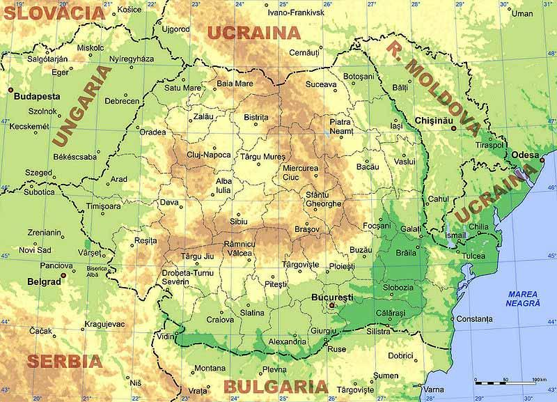 I - Water management in Romania Romania general information Location: S-E Europe Surface: 238,391 skm Population : 21.