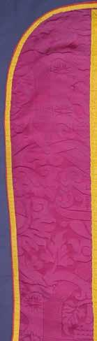 Banić) Damask segments on the lateral sections on the back of the chasuble from the Parish Church of the Birth of the Blessed Virgin Mary (formerly of St. James the Apostle) on the Island of Premuda.
