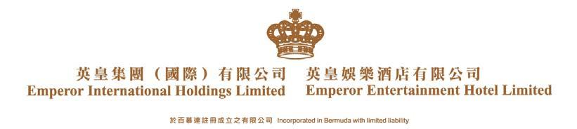 [For Immediate Release] JOINTLY ANNOUNCES 2017/18 INTERIM RESULTS * * * RENTAL INCOME SURGES 25% STRENGTHS RECURRING INCOME STREAMS FOR SUSTAINABLE GROWTH (Hong Kong, 23 November, 2017) Emperor