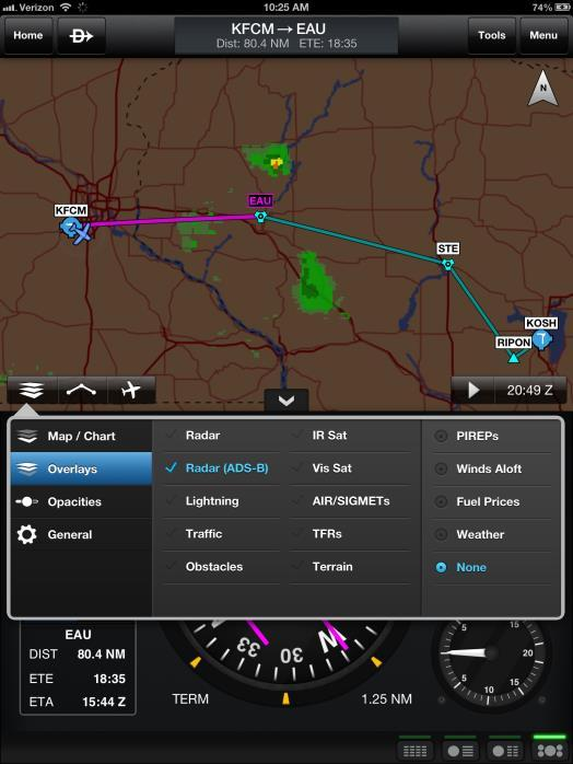 In-Flight ADS-B Weather Benefits of