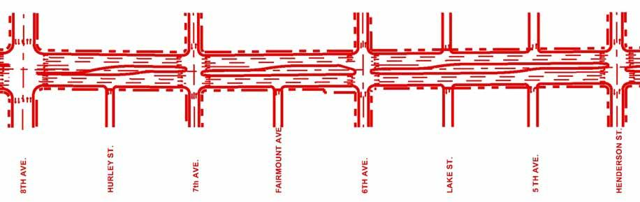 ROSEDALE STREET REDESIGN The TxDOT-approved design includes: Six travel lanes, 28-foot