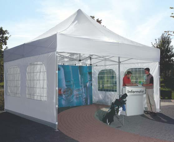 2,3 x 2,3 m 3.0 x 3.0 m 4.5 x 3.0 m 6.0 x 3.0 m Various sizes and types of a.tent.o are available to choose from.