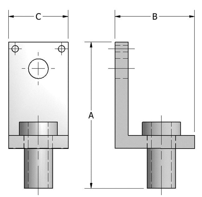 ORDERING: Specify figure number, rod diameter, name and finish, if other than black. ROD DIA. C D H DIA. WT EA FIG.512 THREADED SIDE BEAM BRACKET 3/8 3 1/4 1/2 0.60 1/2 3 1/4 5/8 0.60 5/8 3 3/8 3/4 0.