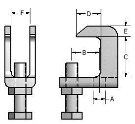 Brackets is not desired or allowed. The structural member may be I beams, wide flange beams, channels, tees or angles where the thickness does not exceed ¾.
