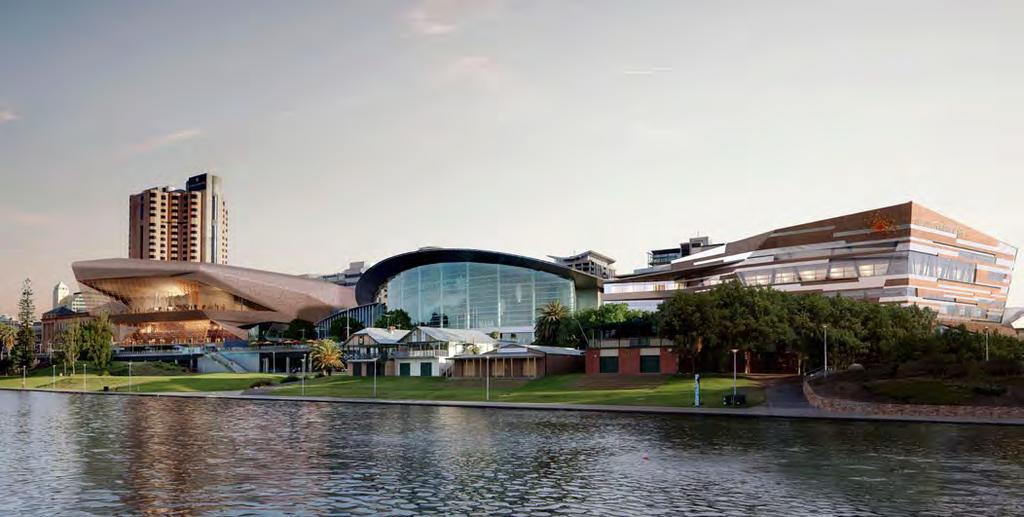 Due for completion 2014 Adelaide Convention Centre World leading convention infrastructure Central to this exciting period for Adelaide and key to the business events industry, is the $350 million