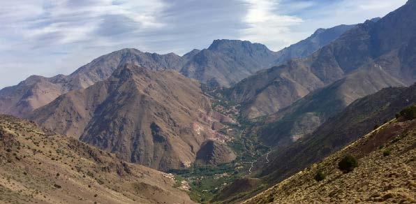 DAY 3 - In the morning you will trek from Tizi Oussem (1800m) to Tizi Mzik Pass (2489m) and then Imlil (1740m) where you