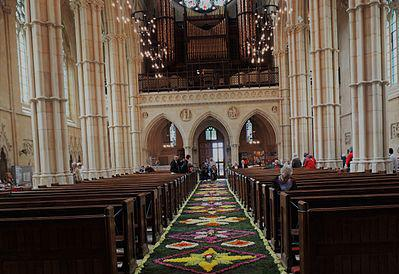 00 z Wed 30 Arundel Carpet of Flowers Arundel Cathedral has celebrated the feast of Corpus Christi for over 100 years, which includes a magnificent carpet of